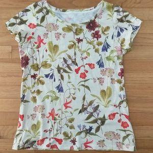 Lands End cotton floral tee shirt, EUC